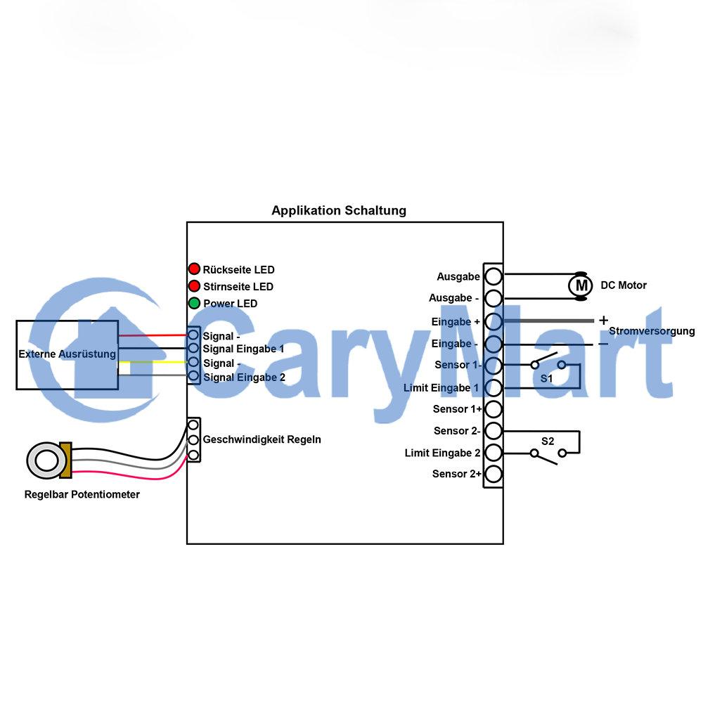 DC12/24V Funk Motor Kontroller mit Signal Eingabe /Einschränkung ...