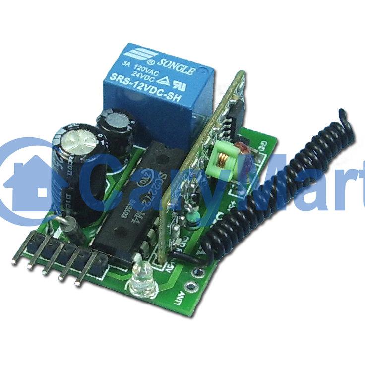 1ch mini radio kontroller funk empf nger momentan modus funkschalter garagentor lichtschalter